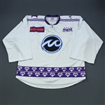 Friend, Julie *<br>White DIFD Warm-Up Jersey - March 2, 2019 @ Boston Pride (Autographed)<br>Minnesota Whitecaps 2018-19<br>#1 Size: XL