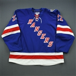 Boyle, Brian *<br>Blue- Stanley Cup Final - Photo-Matched to Game 3<br>New York Rangers 2013-14<br>#22 Size: 58+