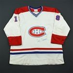 Savard, Serge*<br>White -  Name on Back Removed - Autographed <br>Montreal Canadiens 1977-78<br>#18 Size: 48