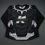 BLANK (No Name on Back)<br>MARVEL Black Panther (Game-Issued) - January 25, 2019 vs. Rapid City Rush<br>Kalamazoo Wings 2018-19<br> Size: 56