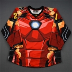 Brown, Cam<br>MARVEL Iron Man - Worn November 17, 2018 @ South Carolina Stingrays (Autographed)<br>Wheeling Nailers 2018-19<br>#21 Size: 52