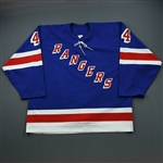 Green, Josh *<br>Blue 3rd Regular Season - Photo-Matched<br>New York Rangers 2003-04<br>#44 Size: 58