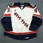 Byers, Dane *<br>White Set 1 (A removed) <br>Hartford Wolf Pack 2007-08<br>#34 Size: 56