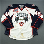 Liffiton, David *<br>Mirabito White Outdoor Classic (Periods 1 & 2)<br>Syracuse Crunch 2009-10<br>#48 Size: 56