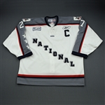 Curtin, Luke *<br>White w/C - Worn in 1st period - Autographed<br>ECHL All Star 2004-05<br>#27 Size: 56