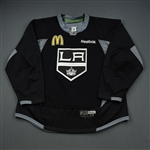 Gravel, Kevin<br>Black Practice Jersey w/ McDonalds Patch<br>Los Angeles Kings 2015-16<br>#53 Size: 58