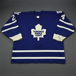 Wood, Randy *<br>Blue<br>Toronto Maple Leafs 1995-96<br>#24 Size: 56
