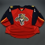 Luongo, Roberto *<br>Red Set 2 - Photo-Matched<br>Florida Panthers 2015-16<br>#1 Size: 58+ G