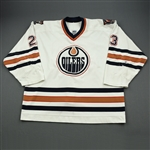 Brown, Sean *<br>White<br>Edmonton Oilers 2000-01<br>#29 Size: 58