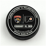 Philadelphia Flyers Warmup Puck<br>February 10, 2020 vs Florida Panthers<br>Philadelphia Flyers 2019-20<br>