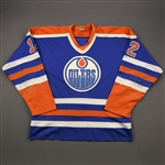 Hunter, Dave *<br>Blue <br>Edmonton Oilers 1983-84<br>#12 Size: XL