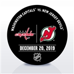 New Jersey Devils Warmup Puck<br>December 20, 2019 vs. Washington Capitals<br>New Jersey Devils 2019-20<br>