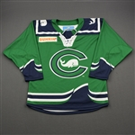 Broad, Kendra<br>Green Preseason - Worn September 28, 2019 vs. University of Connecticut<br>Connecticut Whale 2019-20<br>#12 Size: MD