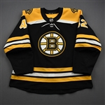 Backes, David<br>Black Set 1 (A removed)<br>Boston Bruins 2019-20<br>#42 Size: 56