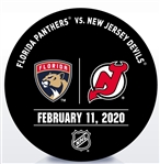 New Jersey Devils Warmup Puck<br>February 11, 2020 vs. Florida Panthers<br>New Jersey Devils 2019-20<br>