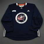adidas<br>Navy Practice Jersey w/ OhioHealth Patch <br>Columbus Blue Jackets 2019-20<br> Size: 58