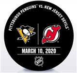 New Jersey Devils Warmup Puck<br>March 10, 2020 vs. Pittsburgh Penguins<br>New Jersey Devils 2019-20<br>