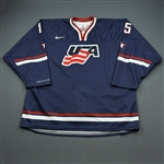 Merrill, Jon *<br>Blue, 2012 World Junior Championship <br>Team USA 2011-12<br>#15 Size: 56