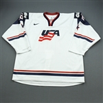 Santini, Steve *<br>White, World Junior Championship<br>Team USA 2014<br>#16 Size: 56