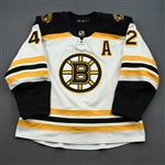 Backes, David<br>White Set 3 / Playoffs w/A<br>Boston Bruins 2018-19<br>#42 Size: 56