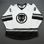 Lohin, Ryan<br>MARVEL Black Panther (Game-Issued) - November 16, 2019 @ Jacksonville Icemen<br>Orlando Solar Bears 2019-20<br>#28 Size: 54