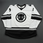 Shalagin, Mikhail<br>MARVEL Black Panther (Game-Issued) - November 16, 2019 @ Jacksonville Icemen<br>Orlando Solar Bears 2019-20<br>#91 Size: 56