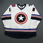 Poulsen, Tyler<br>MARVEL Captain America - Worn January 18-19, 2020 @ Cincinnati Cyclones (Autographed)<br>Rapid City Rush 2019-20<br>#18 Size: 54