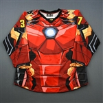 Hall, Robbie<br>MARVEL Iron Man - Worn November 17, 2018 @ South Carolina Stingrays (Autographed)<br>Wheeling Nailers 2018-19<br>#37 Size: 56