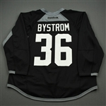 Bystrom, Ludwig<br>Black Practice Jersey w/ UT Southwestern Medical Center Patch - CLEARANCE<br>Dallas Stars <br>#36 Size: 58