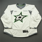 Bystrom, Ludwig<br>White Practice Jersey w/ UT Southwestern Medical Center Patch - CLEARANCE<br>Dallas Stars <br>#36 Size: 58