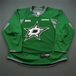 Cracknell, Adam<br>Green Practice Jersey w/ UT Southwestern Medical Center Patch - CLEARANCE<br>Dallas Stars <br>#27 Size: 58