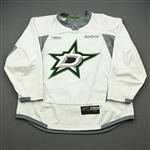 Cracknell, Adam<br>White Practice Jersey w/ UT Southwestern Medical Center Patch - CLEARANCE<br>Dallas Stars <br>#27 Size: 58