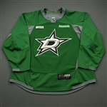 Davis, Brett<br>Green Practice Jersey w/ UT Southwestern Medical Center Patch - CLEARANCE<br>Dallas Stars <br>#60 Size: 58