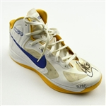 Curry, Stephen *<br>Nike Hyperfuse QAM (Single Right Shoe Only) - January 23, 2013 vs. Oklahoma City Thunder (Autographed)<br>Golden State Warriors 2012-13<br>#30