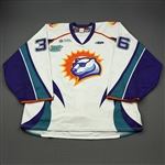 Curry, John *<br>White Set 1 w/ Out of Hibernation patch   <br>Orlando Solar Bears 2012-13<br>#36 Size: 58G
