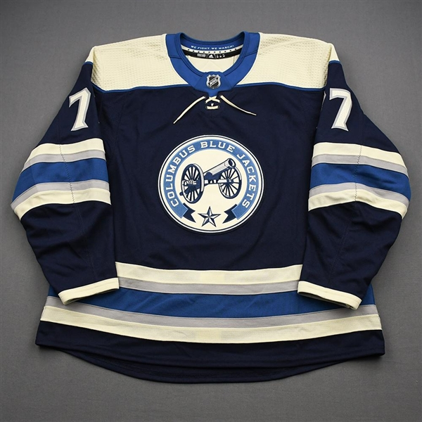 Anderson, Josh<br>Third Set 2 - Game-Issued (GI)<br>Columbus Blue Jackets 2019-20<br>#77 Size: 58