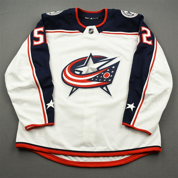 Bemstrom, Emil<br>White Set 3 / Qualifiers / Playoffs<br>Columbus Blue Jackets 2019-20<br>#52 Size: 54