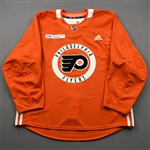 adidas<br>Orange Practice Jersey w/ Rothman Institute at Jefferson Health Patch<br>Philadelphia Flyers 2019-20<br>Size: 52