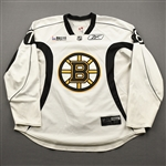Abramson, Ori<br>White Practice Jersey w/ ORG Packaging Patch - CLEARANCE<br>Boston Bruins 2017-18<br>#78 Size: 58