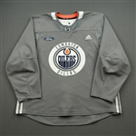 adidas <br>Gray Practice Jersey w/ Ford Patch<br>Edmonton Oilers 2019-20<br> Size: 56