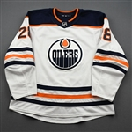 Athanasiou, Andreas<br>White Set 3<br>Edmonton Oilers 2019-20<br>#28 Size: 56