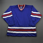 Blank - NNOB<br>Blue Starter Mesh Un-Crested Blank - CLEARANCE<br>New York Rangers <br> Size: 54