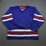 Blank - NNOB<br>Blue Starter Mesh Un-Crested Blank - CLEARANCE<br>New York Rangers <br> Size: 56