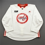 Barber, Riley<br>White Practice Jersey w/ MedStar Health Patch - CLEARANCE<br>Washington Capitals <br>#24 Size: 58