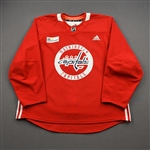 Bourque, Chris<br>Red Practice Jersey w/ MedStar Health Patch - CLEARANCE<br>Washington Capitals <br>#17 Size: 56