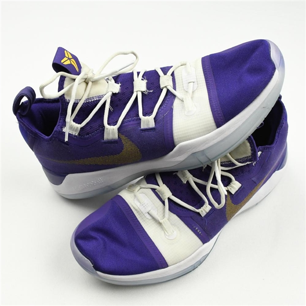 Mays, Skylar *<br>Nike Kobe AD (Purple/White-Gold) - Worn March 4, 2020 vs. Arkansas<br>LSU Tigers 2019-20<br>#4 Size: 14