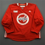 Boyd, Travis<br>Red Practice Jersey w/ MedStar Health Patch - CLEARANCE<br>Washington Capitals <br>#72 Size: 58
