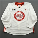 Boyd, Travis<br>White Practice Jersey w/ MedStar Health Patch - CLEARANCE<br>Washington Capitals <br>#72 Size: 58