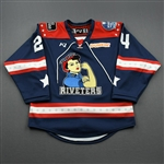 Lewis, Jayne<br>Navy Lake Placid Set w/ Isobel Cup & End Racism Patch<br>Metropolitan Riveters 2020-21<br>#24 Size:  SM